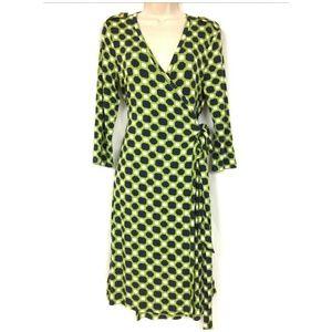 NWT Banana Republic M Wrap Dress Geo Print Stretch